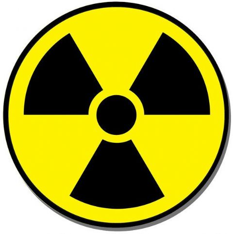 Radiation Danger Symbol Round Mouse Mat. Radioactive Nuclear Caution Mouse pad
